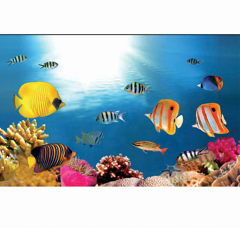 Custom Made Aquarium Background Paper Fish Tank Stickers Painting Landscaping Decorative