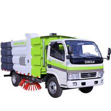 Dewlake fuel oil road sweeping and suction integrated vehicle