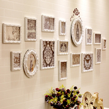 Simple photo wall modern European solid wood photo frame wall bedroom living room sofa background photo frame wall hanging creativity