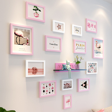 Girls' room decoration photo wall creative wall picture frame wall combination linked wall one wall personalized photo wall