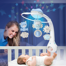 Infantino American baby Dino newborn baby baby bedside ringing music rotating bed bell 0-6 months