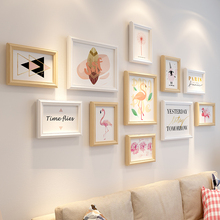 Photo wall clip hanging traceless nail photo frame creative wall hanging combination suit photo wall decoration girl wall ins