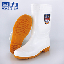 Huili water shoes men's and women's rain shoes medium barrel high Rain Boots Men's kitchen antiskid chef shoes oil proof food hygiene rubber shoes