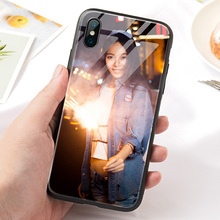 Customized mobile phone shell for lovers, any model, personal photo, customized glass model