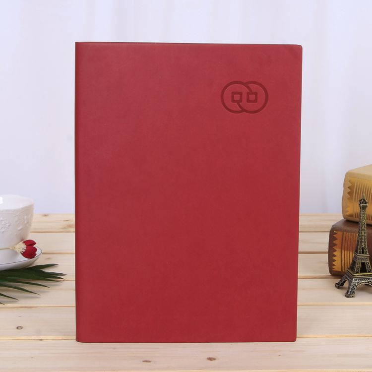 Creative notebook A5 business enterprise notebook set custom PU leather notepad custom logo