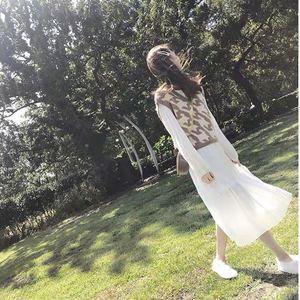 2019初秋白色连衣裙女仙气质长袖约会气质甜美梗桔裙法式小众裙子