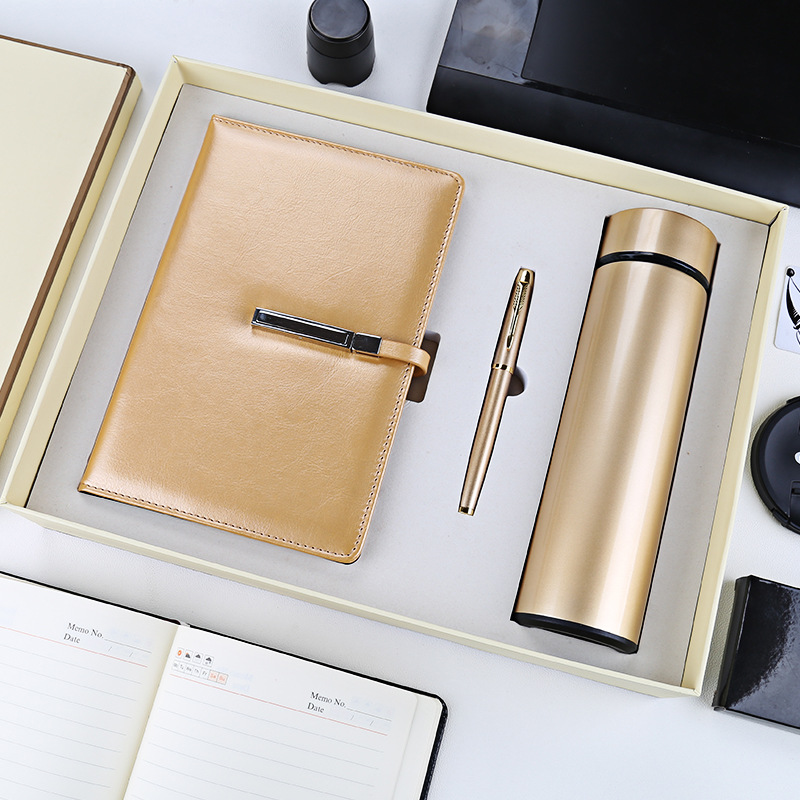 Business mug with notebook set High-end company annual meeting reunion gift Practical advertising giveaway