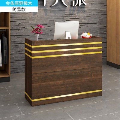 Custom-made cashier Simple bar Beauty salon bar Small reception desk Baked vintage silver table European style barber clothing store