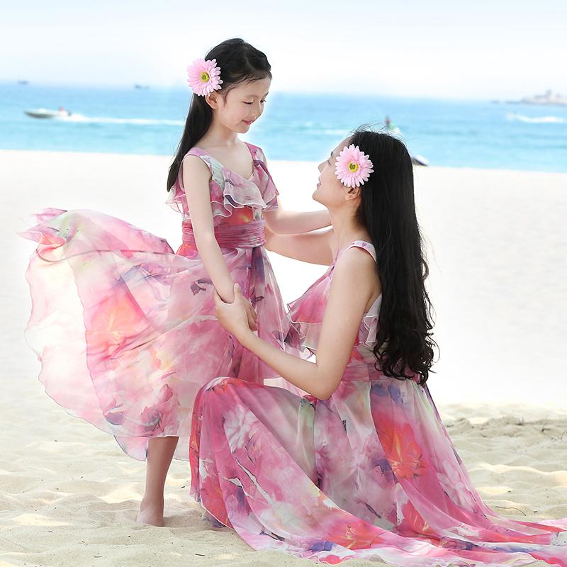 女童连衣裙2017夏装3新款4儿童装5雪纺6裙子8沙滩裙7长裙夏季10岁