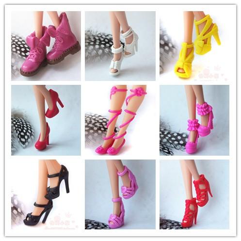 Подлинный переодеться кукла обувь этап обувь 30CM иностранных кукла высококачественный подлинный на высоких кабгалстук-бабочкаах кристалл обувной