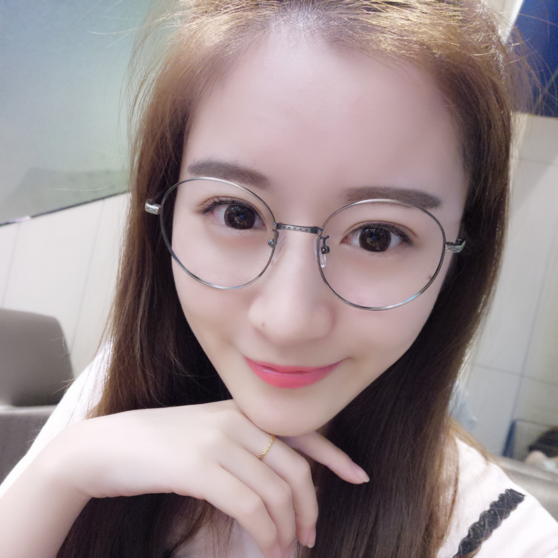 9ea5bf4ee5e7 Ultra-light metal glasses frame female Korean version of the tide  decorative retro round glasses frame small face with finished myopia eyes