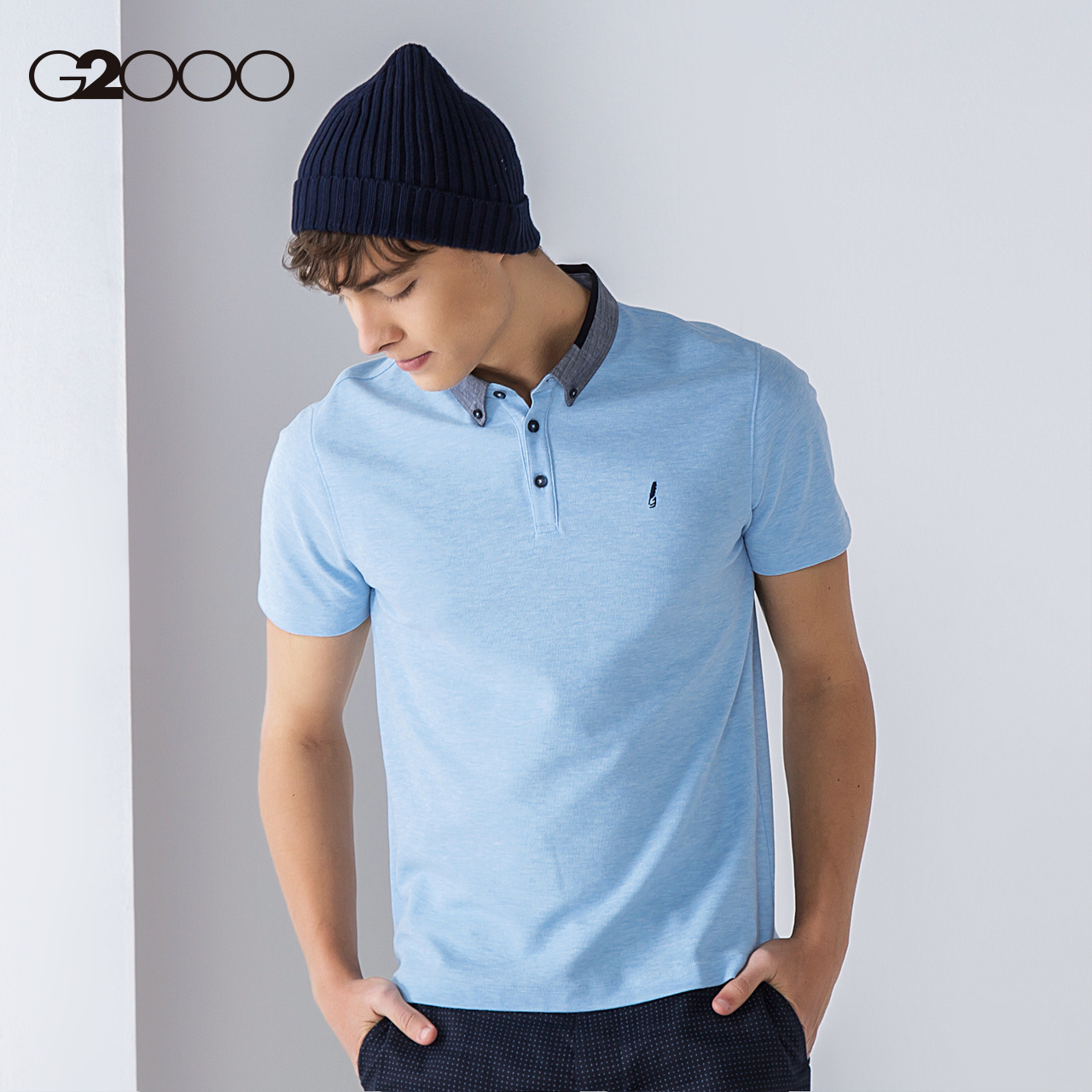 Usd 8031 G2000 Short Sleeved T Shirt Male Lapel Business Polo