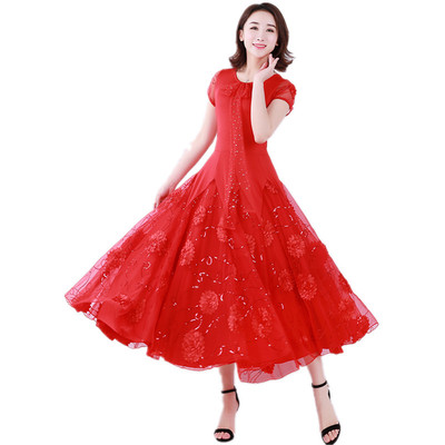 Women's Ballroom Dance Dresses Contest modern dress, high-end Waltz dress
