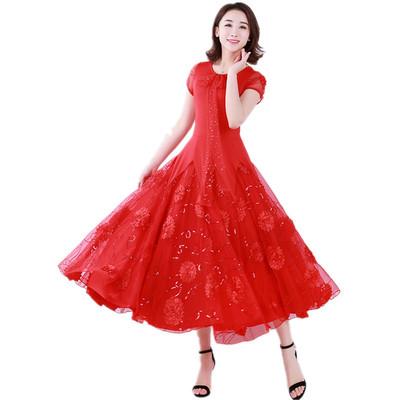 Women's Ballroom Dance Dresses Contest modern dress, high-end Waltz dress