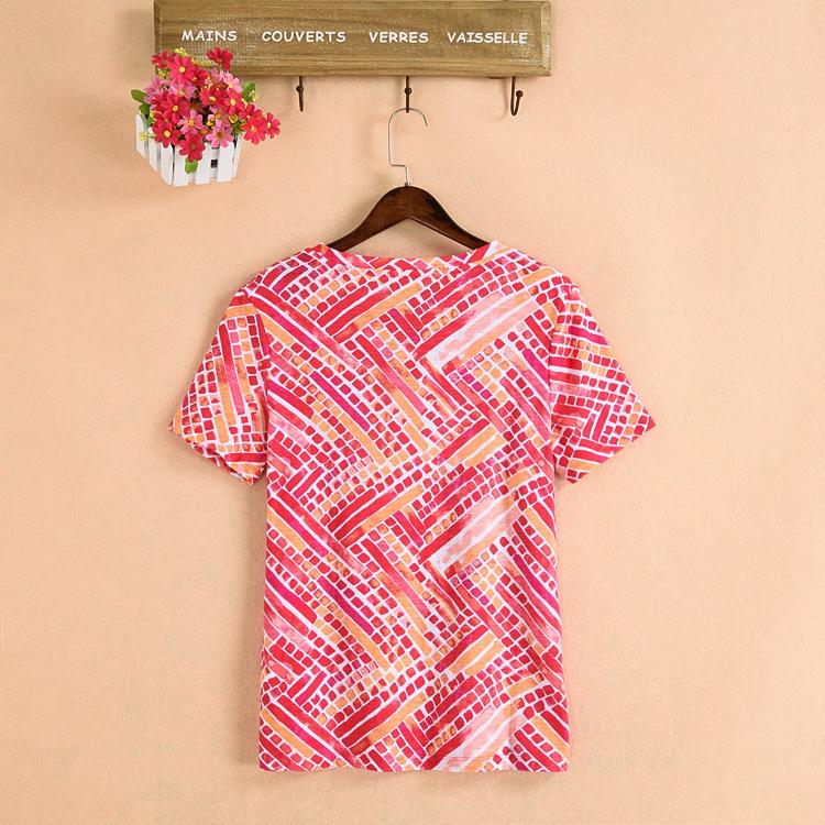 Mùa hè mới 40-year-old fat mm200 kg cotton kích thước lớn trung niên nữ t-shirt mẹ nạp giải phóng mặt bằng chế biến một gói
