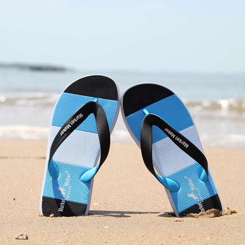 新款人字拖男士拖鞋夏室外情侣凉拖防滑耐磨韩版潮个性沙滩夹趾