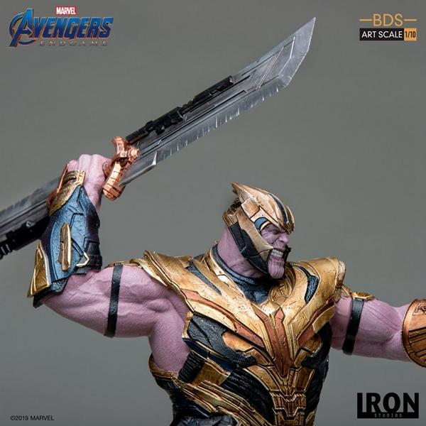 Merch Thanos Collectible Statue 1/10 Avengers 4 By Iron Studios Premium Figure