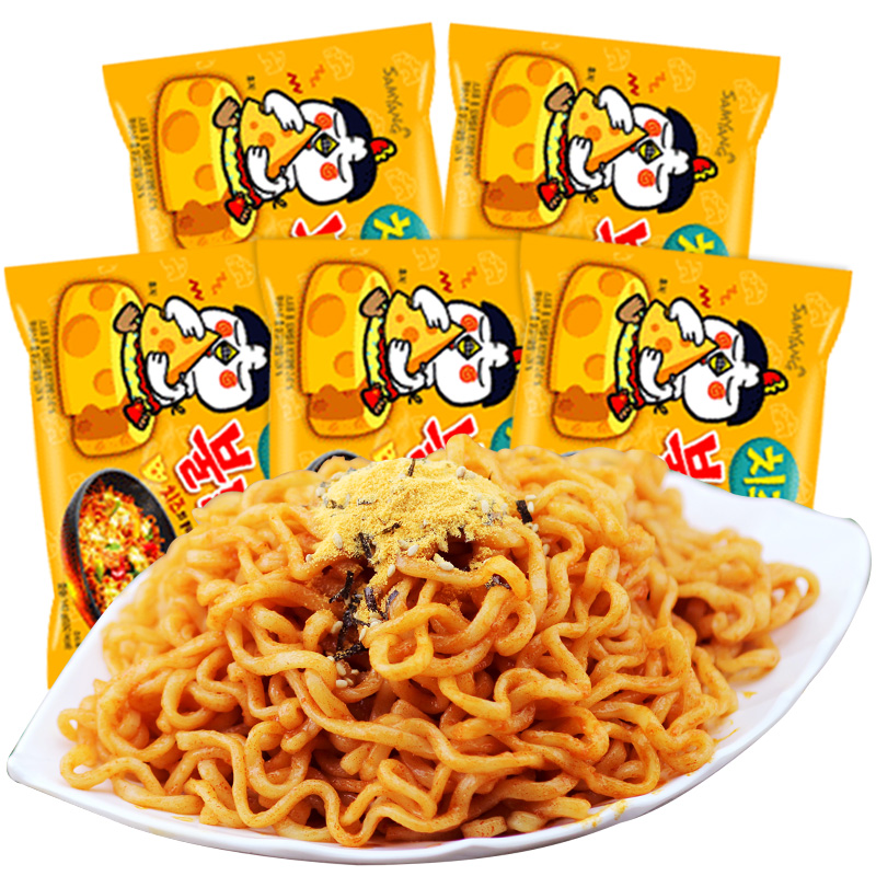 Korean Three Bred Cheese Turkey Noodle Noodles Super Spicy Cheese