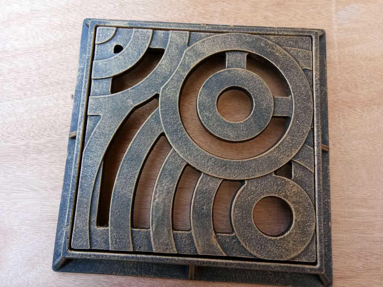 新款盖子盖板别墅井盖铸铁雨水铸铁下水道花园长方形篦子箅子方形