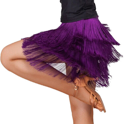 Professional Latin dance skirt, women's adult sexy dress, half dress, tassel clothing