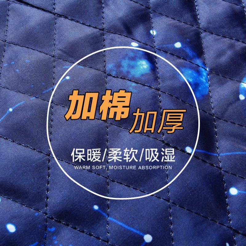 斯巴奴2017秋冬装纯色夹克男中青年商务茄克衫立领外套大码3354