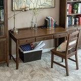 双12价:治木工坊 美式纯实木书桌 1520元包邮