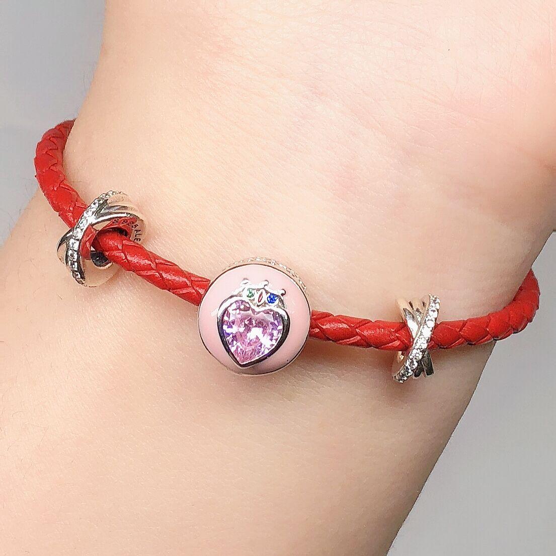 Sailor Moon Zecter Pendant Charm Bead bracelet Beads 925 Silver
