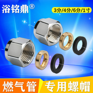 Gas gas gas pipe fittings bellows stainless steel nuts special brass nut 3 minutes 4 minutes 6 minutes