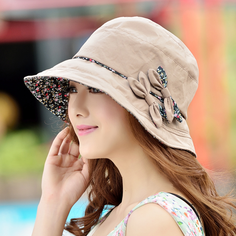 fe51cc29ada Sun hat female summer UV sun hat can be folded wild tide fisherman hat  Basin hat cool hat sun hat
