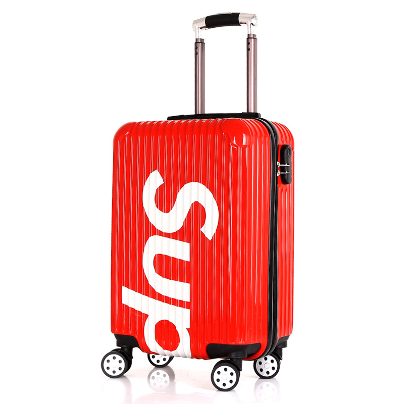 Net red new sup fashion men and women travel lever box million-way wheel-board chassis zippered luggage
