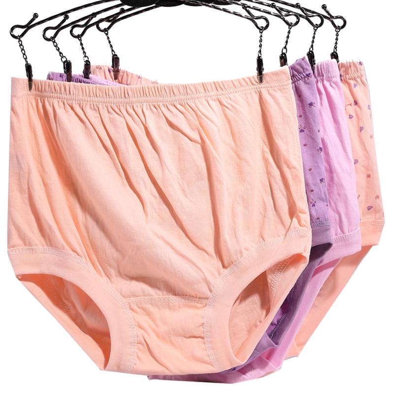 d9a18339d8fb Middle-aged and elderly women's underwear women's men's cotton plus  fertilizer XL elderly pants old lady grandma cotton shorts