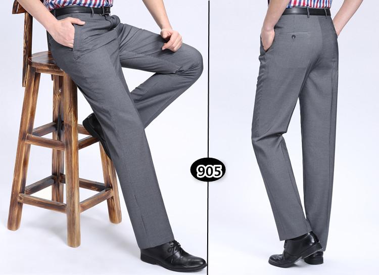 Nam cực nam quần mùa hè phần mỏng trung niên lỏng thẳng phù hợp với lụa quần kinh doanh người đàn ông giản dị của quần