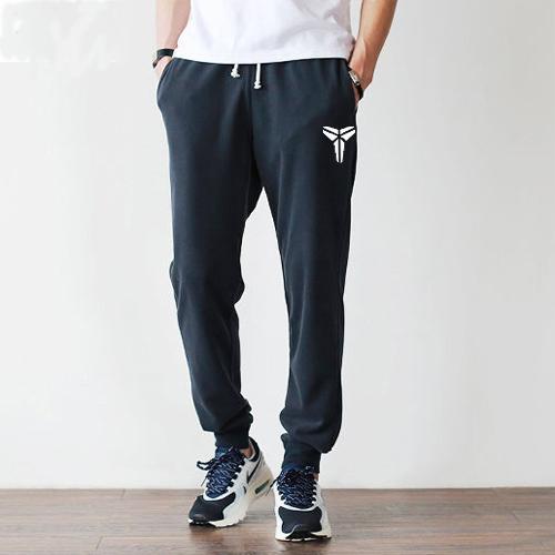 科比春秋夏季小脚运动纯棉裤男针织修身束脚裤健身收口薄款长卫裤