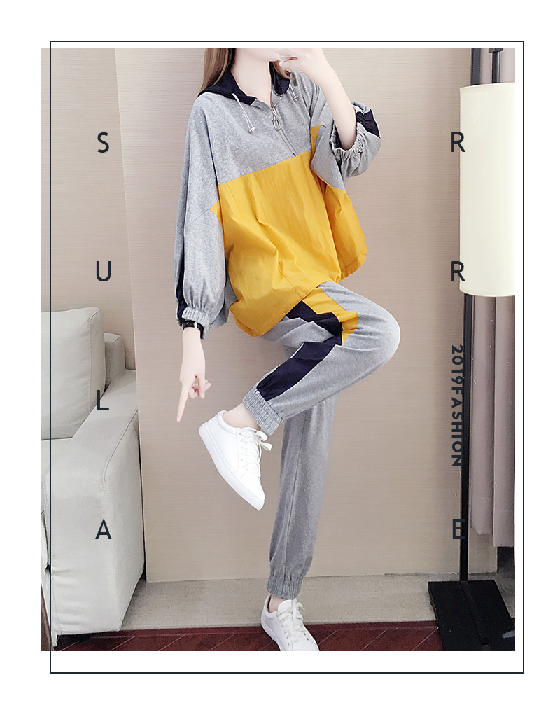 Tide brand early autumn sports suit women's 2020 new autumn fashion long-sleeved casual top trousers autumn two-piece set 44 Online shopping Bangladesh