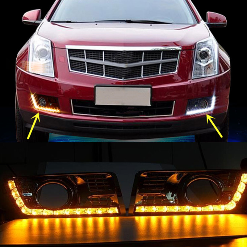 2015 Cadillac Srx For Sale: 2x LED Daytime Running Light DRL Yellow Turn Signal For