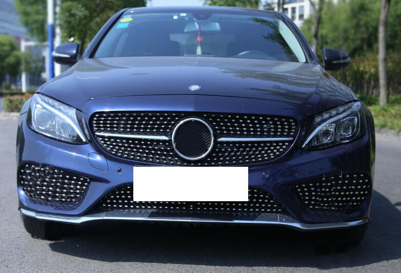 Newest style for benz c class w205 2015 2016 front hood grille grill vent hole 190672172188 ebay - Grille indiciaire 2015 categorie c ...