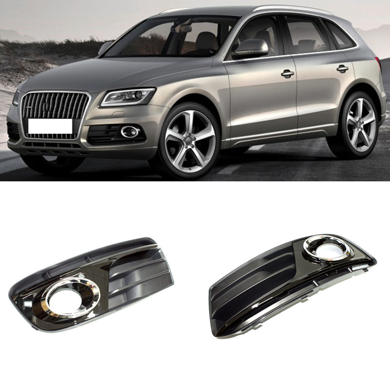 For Audi Q5 2013-2016 1Set ABS Front Fog Lamp Cover Trim 1