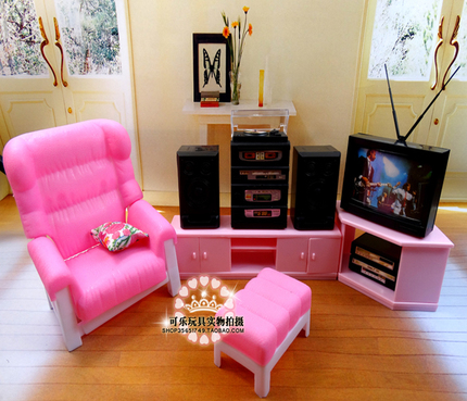 30cm doll Furniture set living room TV Audio Sofa Accessories Home Toy Gifts