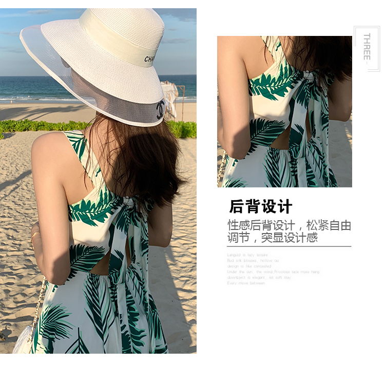 沙滩子夏装新款巴釐岛海边度假裙海滩性感露背吊带洋装女详细照片