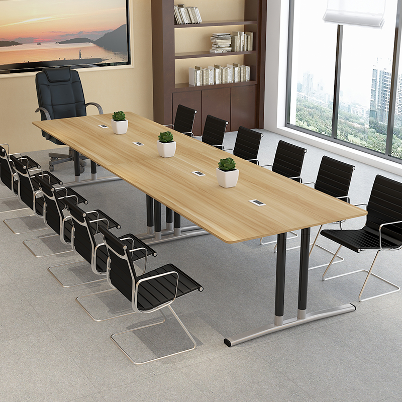 USD Conference Table Long Table Simple Modern Large Plate - Long meeting table