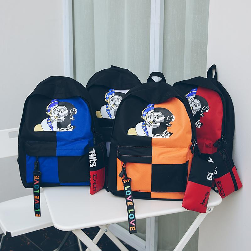 皮图腾潮酷儿童书包男孩子小学生男童卡通背包补习班运动春游旅行