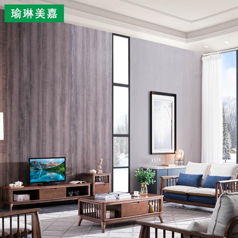 Tất cả đồ gỗ rắn đơn giản hiện đại phong cách Trung Quốc căn hộ nhỏ mới Bắc Âu phòng khách sofa bàn cà phê TV tủ đặt - Bộ đồ nội thất