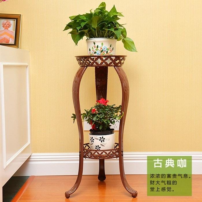 移动的家用放花架子花盆架 多层 客厅卧室简易白色木制单层展示架