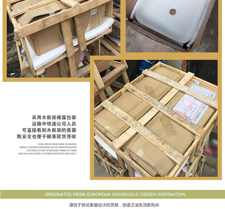 Household lavabo floor pillar basin courtyard balcony toilet stage basin integrated basin ceramic sinks. 4