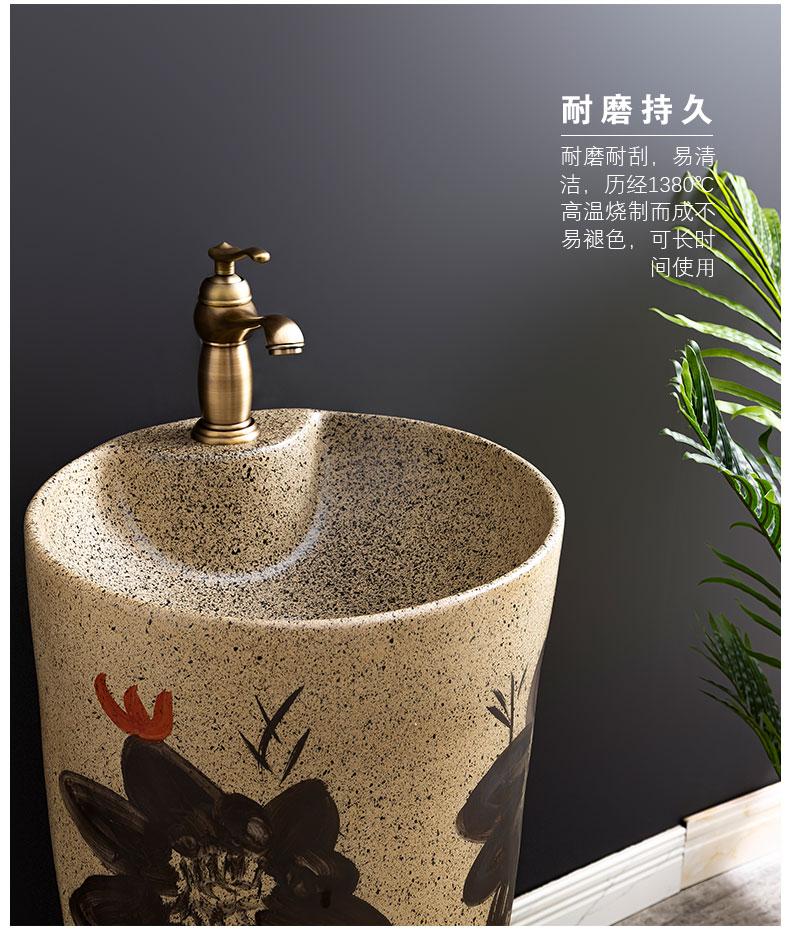 Ceramic basin floor balcony is suing the lavatory retro column pillar household toilet lavabo, 13