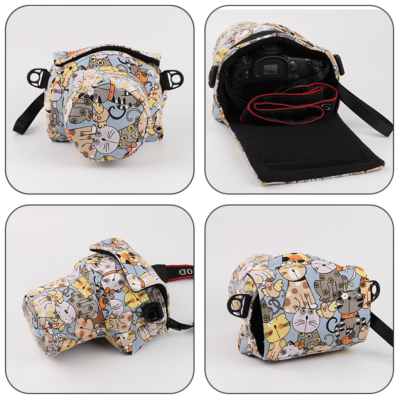Canon 60D 600D 800D 750D 77D SLR Camera Bag Cute Portable Diagonal Leisure  Photography Bag Female