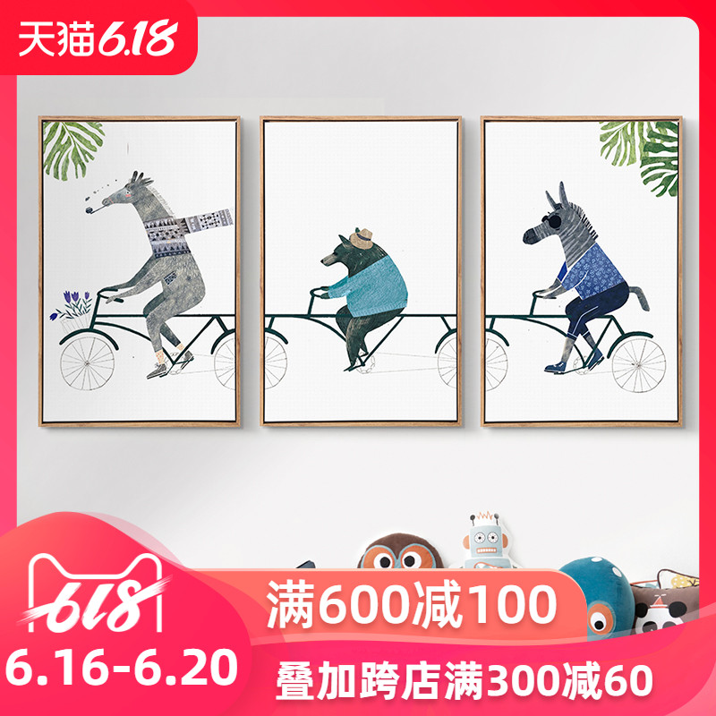 Usd 65 04 Nordic Modern Cartoon Decoration Painting Living Room Bedroom Bedside Painting Children S Room Hanging Murals Simple Animal Wall Painting Wholesale From China Online Shopping Buy Asian Products Online From