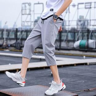 肯梵图正品男装夏季新款宽松薄款七分裤