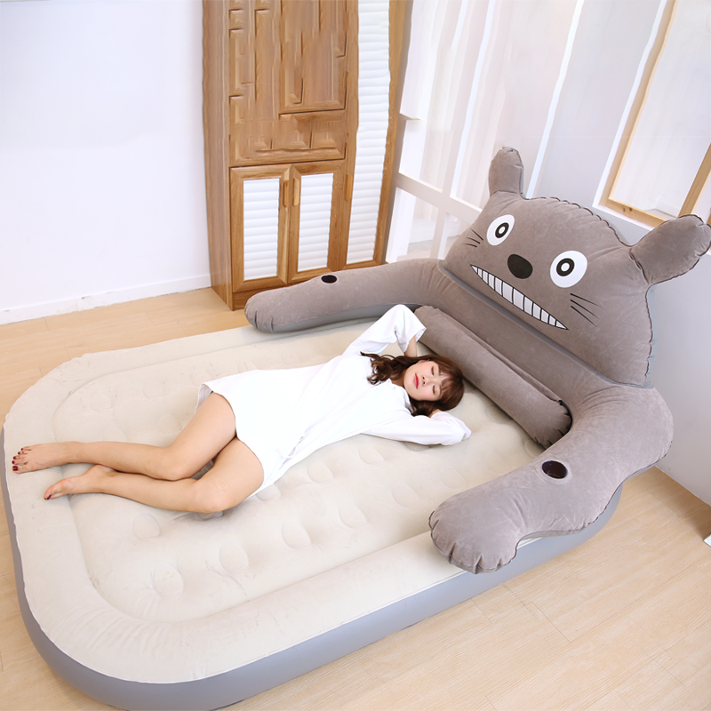 Creative Lazy Couch Cartoon Bear Single Balcony Nap Inflatable Sofa Bed Bedroom Leisure Dormitory Lazy Chair Furniture