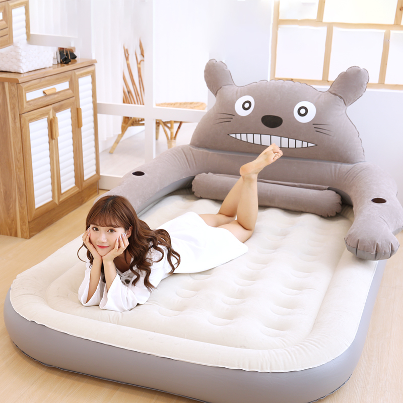 Creative Lazy Couch Cartoon Bear Single Balcony Nap Inflatable Sofa Bed Bedroom Leisure Dormitory Lazy Chair Living Room Sofas Home Furniture
